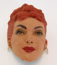 Image of 13289-30 - Portrait Mask, unknown red headed woman; Made by Doane Powell