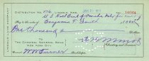 Image of 9736-48 - Check Stub, Lincoln Land Company, pay to the order of Benjamin F. Smith for $1000.00 on January 23, 1911