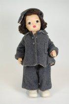 Image of 13244-135-(1-9) - Doll, Terri Lee, Brown Hair, Curtsy Coat