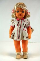 Image of 13244-153-(1-10) - Doll, Terri Lee, Platinum Blonde, Bunnies and Carrots Town Dress