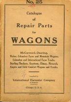 Image of 9218-105 - Booklet, No. 25 Catalogue of Repair Parts for Wagons