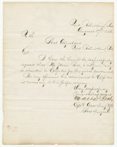 Image of 11102-1 - Letter, Walter Reed, Ft. Robinson, 1885