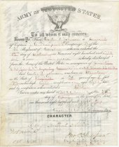 Image of 11783-5 - Certificate, Discharge, Company F, 3rd Regiment; Carter P. Johnson