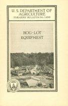 Image of 8601-178-(4) - Booklet, Hog-Log Equipment, U.S. Department of Agriculture Guide