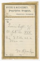 Image of 9248-3 - Perscription, USA, of Dr. Walter Reed, Ft. Rob