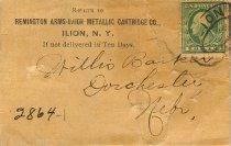 Image of 2864-1 - Envelope; Remington Arms Co. to Willis Barker