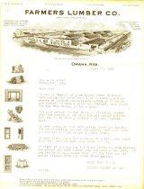 Image of 8919-315-(1) - Letter, Farmers Lumber Co.