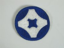 Image of 9159-16 - Patch, 4th Service Command; Blue and White