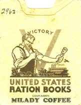 Image of 2963-1-(1-2) - Book, Ration, with Milady Coffee Cover