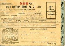Image of 7387-1-(11) - Book, War Ration Book No. 3