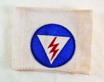 Image of 11146-3 - Armband, Civil Defense; Lightning Bolt, Messenger