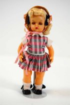 Image of 13244-242-(1-9) - Doll, Tiny Terri Lee, Pink and Gray Print Dress