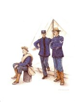 Image of 10921-58-(1) - Print, Nebraska Soldiers at Camp Saunders; Debra Brownson