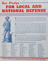 Image of 4541-719 - Poster, Our Pledge for Local and National Defense