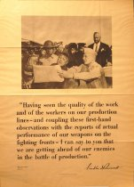 """Image of 4541-815-(1) - Poster, """"FDR and Message to War Workers"""""""