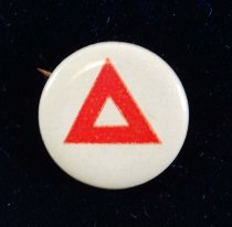 Image of 7130-10-(2) - Button, YMCA, Red Triangle