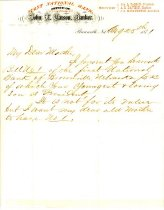 Image of 7291-38 - Letter, First National Bank, Brownville