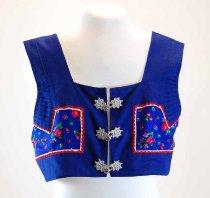 Image of 13294-7-(2) - Vest, Kroj; Blue, Detva, Slovakia