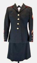 Image of 13321-1-(3) - Skirt; USMC Dress Blue Uniform, Sandra Reddish