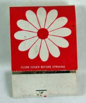 Image of 11865-15 - Matchbook; Red with Flower