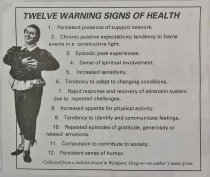 Image of 11865-45 - Flier; 12 Warning Signs of Health