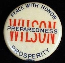"Image of 8661-41-(2) - Button, Wilson; ""Peace with Honor"""