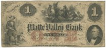 Image of 2495 - Bank Note, Platte Valley Bank, $1; 1858