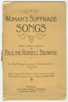 Image of 7294-5464 - Book, Womans Suffrage Songs; By Pauline Russell Browne, Indianapolis