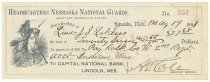 Image of 7294-6977 - Check, Pay; Nebraska National Guard, to J.S. Likens, $27.68, 1891
