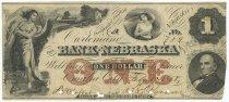 Image of 7294-801 - Bank Note, Bank of Nebraska, $1; 1858, Omaha City