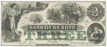Image of 7302-7 - Bank Note, Desoto, $3; 1863