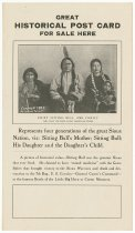 Image of 8073-76-(3) - Flier, Advertising Sitting Bull Postcard