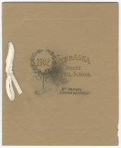 Image of 9238-48 - Announcement, Graduation; Brown Cover, Program Inside, 1902, NE State Normal School