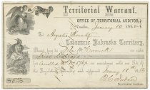 Image of 9692-153 - Warrant, Territorial, 1862