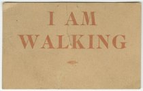 Image of 9929-3 - Card; I Am Walking, from Lincoln Street Car Strike