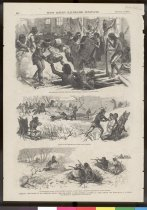 Image of 11055-2076 - Magazine Page, Frank Leslies Illustrated Newspaper; February 15, 1879, NE the Escape of the Cheyenne Indians from