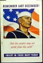 Image of 10645-4355 - Poster; John Falter; Offset Lithograph; Remember Last December!
