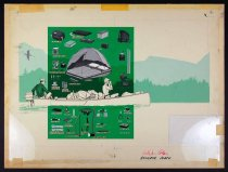 Image of 11928-314 - Painting, Man And Woman In A Canoe, Camping Equipment, by Glen Fleischmann