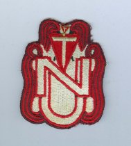 Image of 13334-7-(1) - Patch, Insignia; with pin, Tassels, University of Nebraska Female Pep Club, 1973-1976