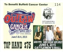 Image of 13084-152 - Ticket, Admission; 2015 Cattleman's Ball