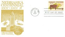 Image of 13339-2-(1-2) - Cover, First Day; Nebraska Statehood Stamp, with card