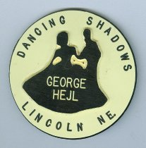 Image of 13346-11 - Nametag; George Hejl, Dancing Shadows