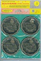 Image of 13354-9 - Package, Product; Unopened, Set of 4 Nebraska Coasters