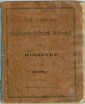 Image of Sabbath School record (Blair, Neb.)