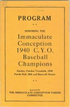 Image of Immaculate Conception Baseball Team program