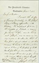 Image of Schuyler Colfax letter
