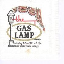Image of 13373-130 - Napkin; The Gas Lamp, Omaha