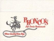 Image of 13373-151 - Napkin; Bronco's, Omaha