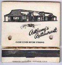Image of 13373-16 - Matchbook; Anthony's Restaurant, Omaha