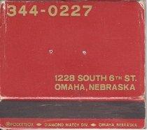 Image of 13373-8 - Matchbook; Le Cafe de Paris, Omaha